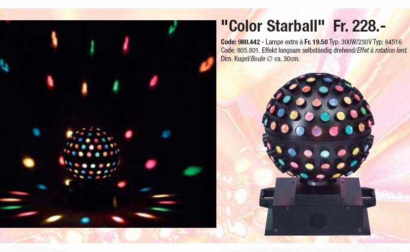 jeu de lumi res color starball. Black Bedroom Furniture Sets. Home Design Ideas